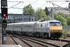 91128 approaches York with 1N21, 1430 London Kings Cross to Newcastle on 1st July 2013.