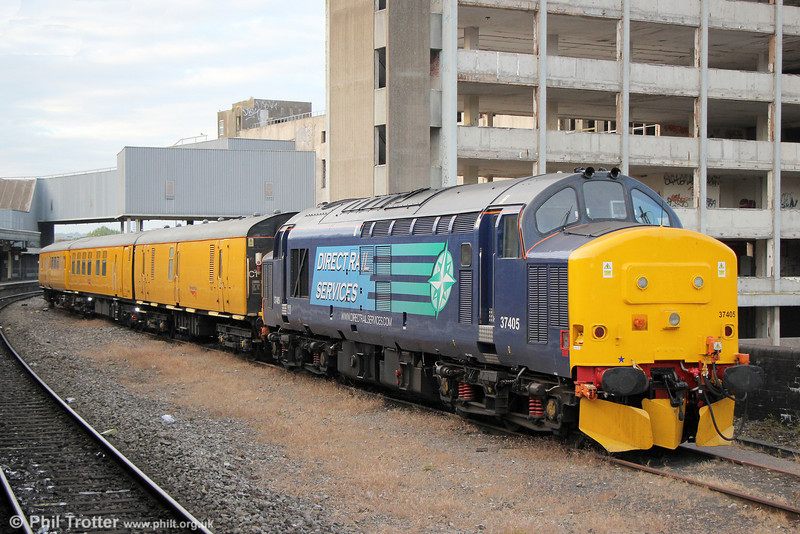 37405 stabled at Bristol Temple Meads with test train 3Z34 on 29th June 2013.