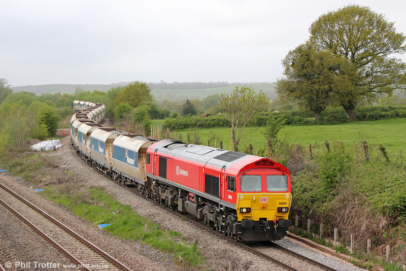 59204 at Llandevenny with 6A83, 1215 Machen Quarry to West Drayton on 10th May 2013.