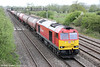 60063 passes Coedkernew with 6B13, 0507 Robeston to Westerleigh on 10th May 2013.