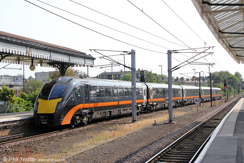 180107 calls at York forming 1A66, 1406 Sunderland to London Kings Cross on 5th July 2013.