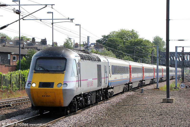 43251 approaches York with 1S22, 1500 London Kings Cross to Edinburgh on 5th July 2013.