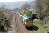 66610 passes Llanfihangel with 6Z61, 0725 Portbury to Fiddlers Ferry power station on 20th April 2013.