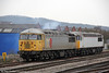 DCR 56311 and 56091 at Cardiff Central on 26th March 2013, preparing to work 6Z69, 2058 Cardiff Tidal to Chaddesden.