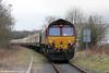 UK Railtours 1Z66, 1520 Gwaun Cae Gurwen to London Paddington, 'The Amman Valley Ranger' at Pantyffynnon on 9th March 2013.