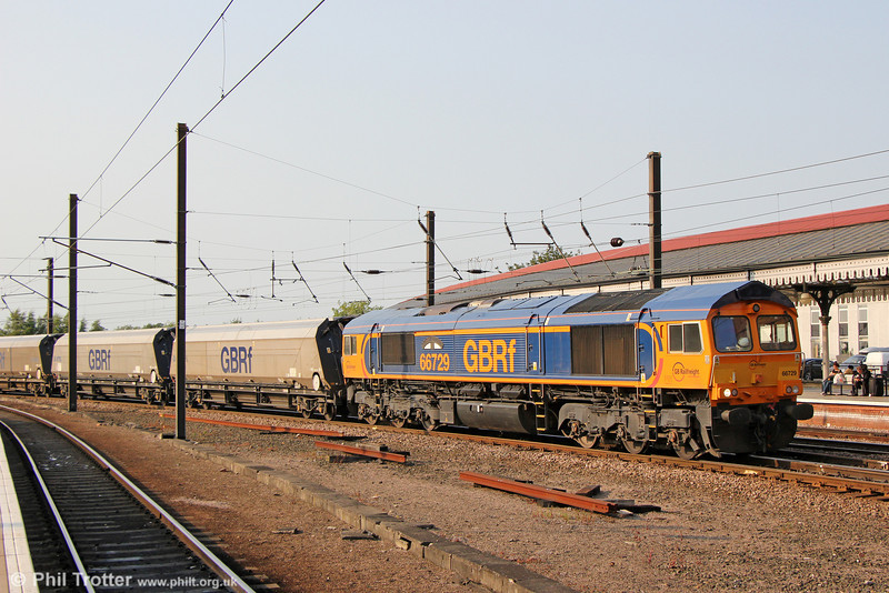 66729 'Derby County' at York with 6H80, 1151 North Blyth to Drax on 5th July 2013.