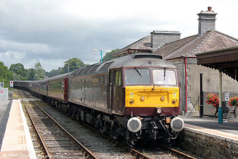 WCRC 47826 at Llandovery with Compass Tours 1Z86, 0533 Peterborough to Cardiff Central, 'The Heart of Wales Scenic Explorer' on 3rd August 2013.