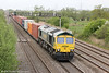 66589 at Coedkernew heading 4O51, 0958 Wentloog to Southampton Maritime on 10th May 2013.