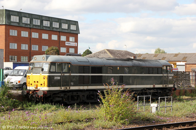 A second view of DCR 31190 stabled at Westbury on 10th August 2013.