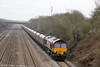 66126 passes Llandevenny with 6V67, 0336 Redcar to Margam coke on 23rd March 2013.