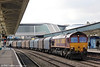 66181 passes through Newport with 6O32, 1012 Margam to Dollands Moor on 18th March 2013.