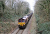 66051 approaches Pontarddulais with 6B05, 1355 Gwaun Cae Gurwen to Swansea Burrows Sidings on 7th January 2013.