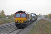 66126 is seen at Severn Tunnel Junction with the Bristol Barton Hill RHTT 3S59 on 9th November 2013.