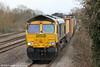 66572 heads 4V52, 1000 Southampton to Wentloog through Magor on 16th March 2013.
