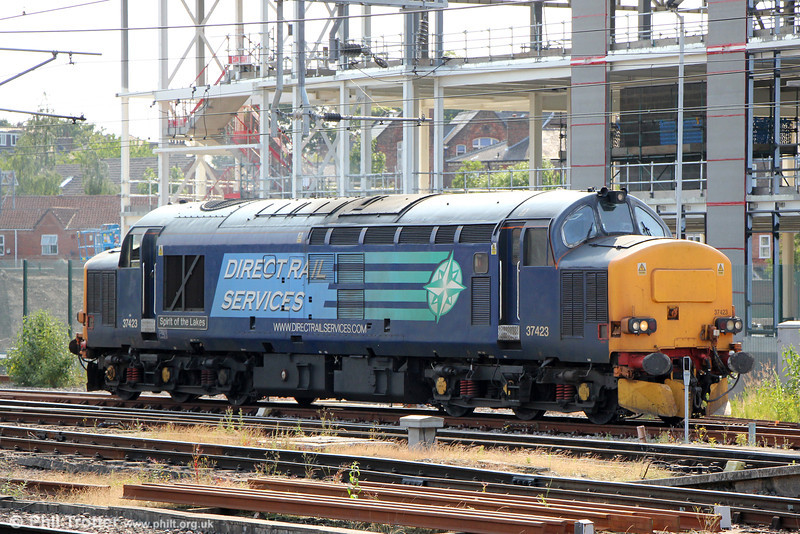 37423 'Spirit of the Lakes' at York on 3rd July 2013.