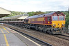 66027 passes through Bath with 6W38, 1526 Westbury to Cardiff Queen Street on 7th September 2013.