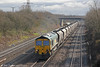 66529 passes Llandevenny with 6Z61, 0725 Portbury to Rugeley on 16th March  2013.