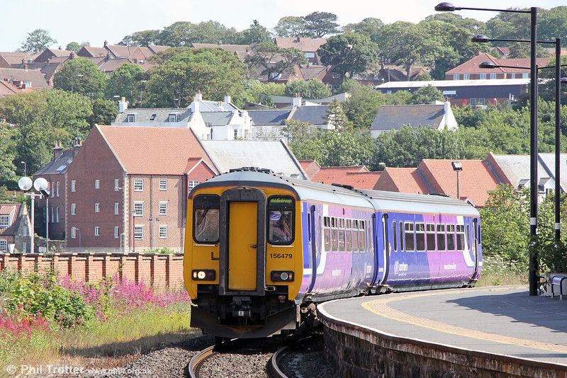 156479 at Whitby forming 2D40, 1416 Middlesbrough to Whitby on 4th July 2013.