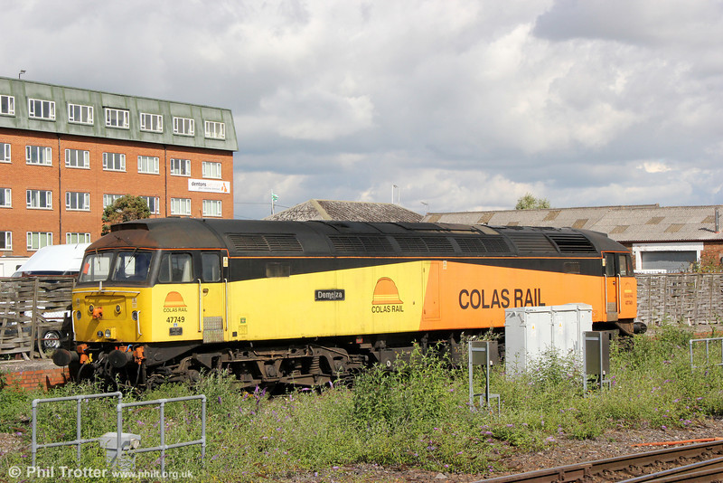 Colas 47749 'Demelza' stabled at Westbury on 7th September 2013.