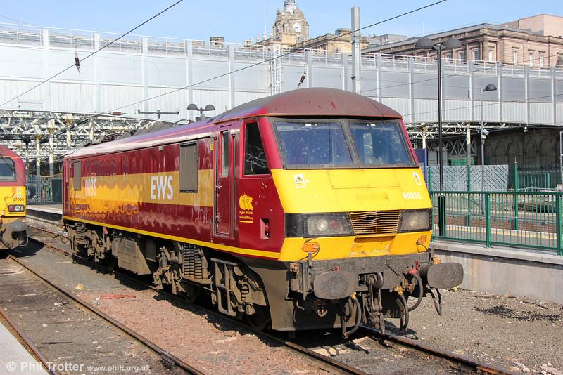 90035 stabled at Edinburgh Waverley on 13th July 2013.