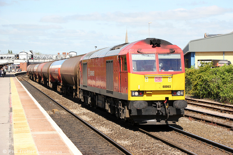 60063 at Gloucester with 6B13, 0507 Robseton to Westerleigh on 1st June 2013.
