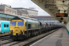 66519 passes Newport with 4F52, 1025 Fifoots Power Station to Newport Docks on 18th March 2013.