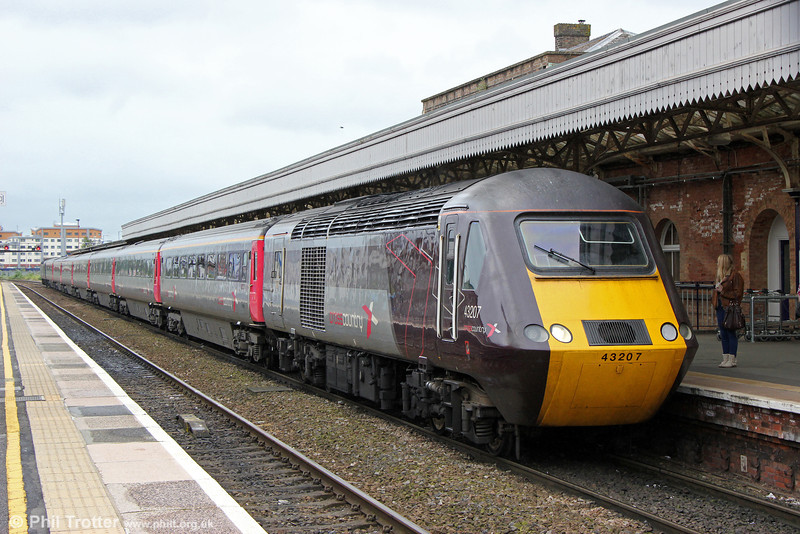 XC 43207 calls at Taunton with 1V44, 0600 Leeds to Paignton on 22nd June 2013.