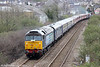 DRS 47802 'Pride of Cumbria' at Melincryddan bringing up the rear of Retro Railtours 1Z30, 1535 Swansea to Huddersfield, 'The Retro Welsh Dragon' on 27th April 2013.