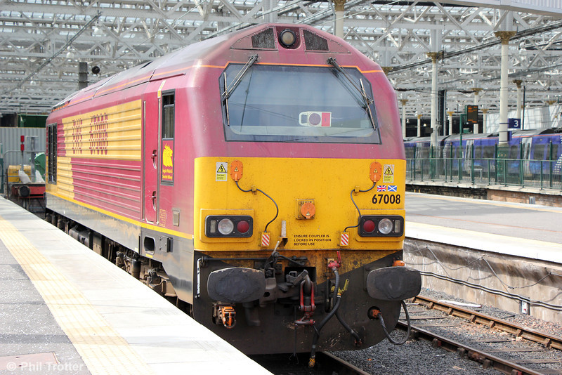 67008 stabled at Edinburgh Waverley on 12th July 2013.