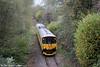Network Rail's Class 150 derived 950001 near Rhiwderin forming 2Q08, 1251 Alexandra Dock Junction - Pontypridd - Machen Quarry - Alexandra Dock Junction on 1st November 2014.