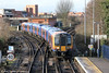 450023 calls at Staines forming 2S38, 1303 Weybridge to London Waterloo on 16th January 2014.