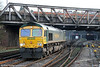 66572 passes Newport with 4M64, 1634 Wentloog to Crewe Basford Hall on 8th March 2014.