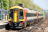 SWT 158881 at Woking forming 1L35, 1250 London Waterloo to Salisbury on 3rd May 2014.