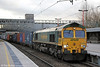 66565 at Stafford with 4M28, 0932 Southampton Maritime to Ditton on 28th January 2014.