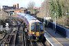 450001 calls at Staines forming 2S36, 1233  Weybridge to London Waterloo on 16th January 2014.