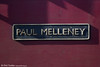 Nameplate of 66172 'Paul Melleney' at Westbury on 8th March 2014. Paul Melleney was an Acton based Trainman 'D' (shunter) who was killed at Old Oak Common on 14th January 2005, at the age of 36.