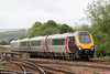 A long day ahead: XC 221134 approaches Exeter St. Davids forming 1S45, 0925 Plymouth to Aberdeen (arr. 2042) on 10th May 2014.