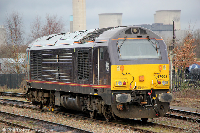 67005 'Queen's Messenger' stabled at Didcot on 29th January 2014.