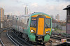 Southern's 377417 is seen at Clapham Junction forming 2E62, 1431 London Victoria to Dorking on 16th January 2014.