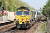 66561 passes Woking with 6Y49, 1007 Angerstein Wharf to Wool on 3rd May 2014.
