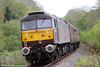 WCRC 47786 'Roy Castle OBE' at the rear of Compass Tours 1Z47, 0527 Darlington to Cardiff Central, 'The Heart of Wales Scenic Rambler' at  Brynmarlais on 7th May 2014.