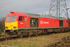A closer look at 60001 at Margam Knuckle Yard with 6B03, 0910 from Trostre on 18th January 2014. The first of the 100-strong class, 60001 was handed over to BR in June 1989.