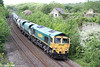 66555 passes Llangewydd with 6B75, 1338 Jersey Marine to Pengam on 26th May 2014.