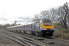 43012 passes Haresfield with 1G21, 0936 London Paddington to Cheltenham Spa on 17th January 2014.