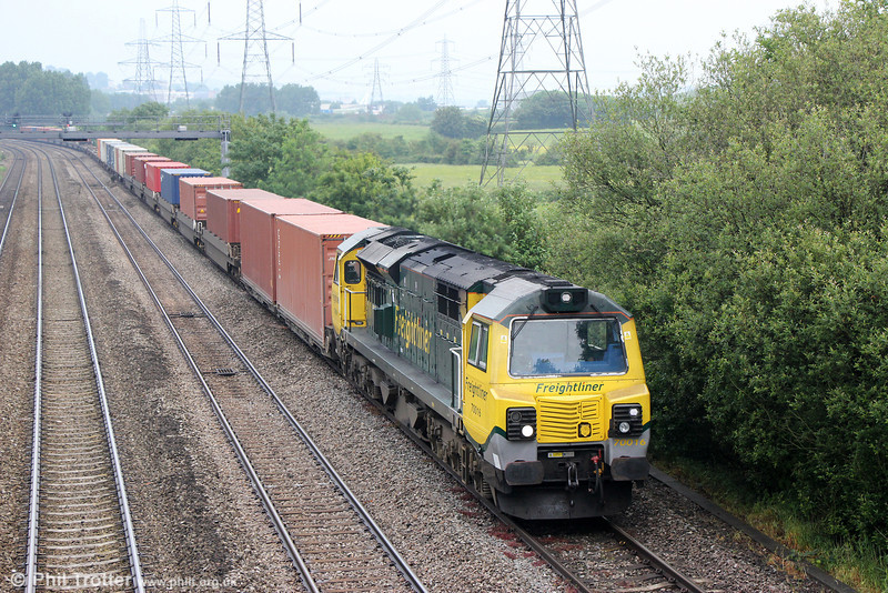 70016 passes Duffryn with 4V50, 0508 Southampton to Wentloog on 7th June 2014.