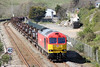 60059 'Swinden Dalesman' passes Aberthaw with 6H27, 1323 Margam to Llanwern on 13th April 2014.