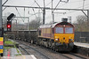 66177 passes Camden Road with 6Z67, 1016 Calvert to Bow Depot on 31st January 2014.