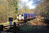 FGW 150244 departs from Parkend forming the 1130 to Lydney Junction on 22nd March 2014.