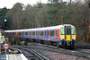 458531 brings up the rear of 5Z13, 1154 Staines Up Loop to Reading at Ascot on 16th January 2014.