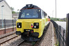 Colas 70808 waits at Risca with engineers' train 6C21 (2238 from Hinksey the previous evening) on 1st June 2014.